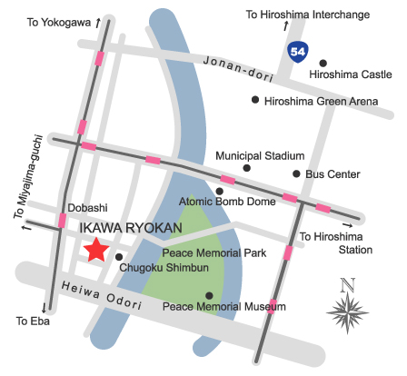 Map around IKAWA RYOKAN